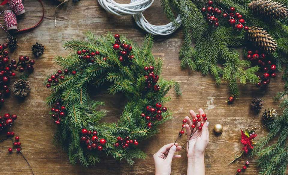 Christmas Wreath Making in Manchester