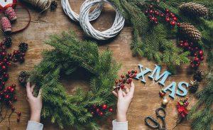 Winter Wreath Making in Cheshire