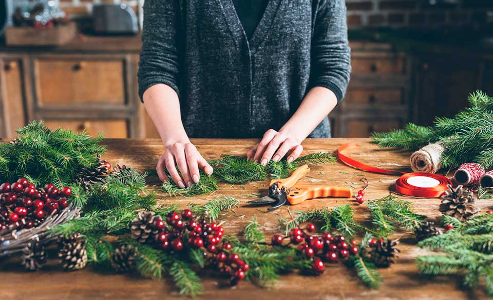 Winter Wreath Making in Manchester